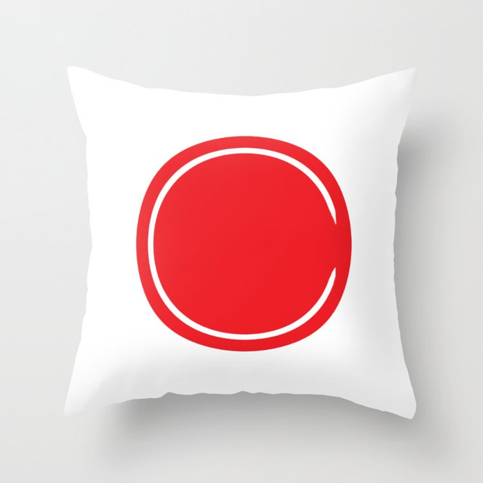 Red Circle Riverdale Throw Pillow By Quotecity Society6