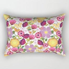Wild Flower Tribe Rectangular Pillow