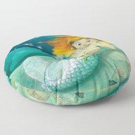 How mermaids get new books Floor Pillow
