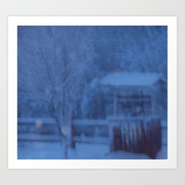 Country Whiteout Art Print