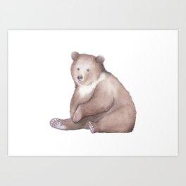 Bear Watercolor Art Print
