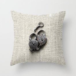 Two Locks One Key Throw Pillow