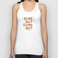guns Tank Tops featuring Guns Out by Free Specie