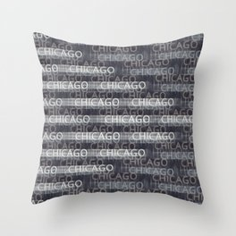 Chicago Go Throw Pillow