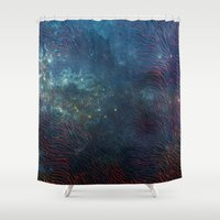 aqua Shower Curtains featuring aqua by Vita♥G