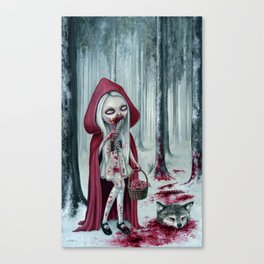 Little dead riding hood Canvas Print