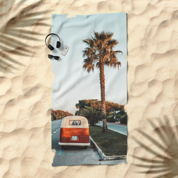 Summer Road Trip Beach Towel