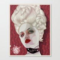 marie antoinette Canvas Prints featuring Marie Antoinette by MORPHEUS
