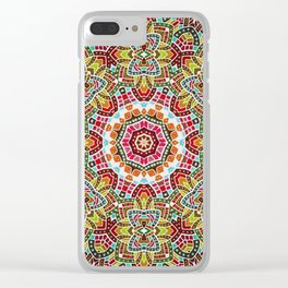 Persian kaleidoscopic Mosaic G508 Clear iPhone Case