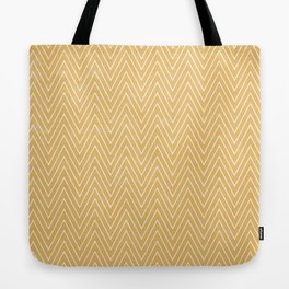Mustard Chevron Tote Bag