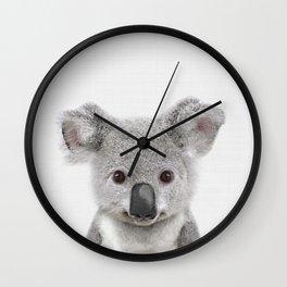 Koala Print, Australian Baby Animal, Nursery Wall Art, Peekaboo Animals, Koala Wall Clock
