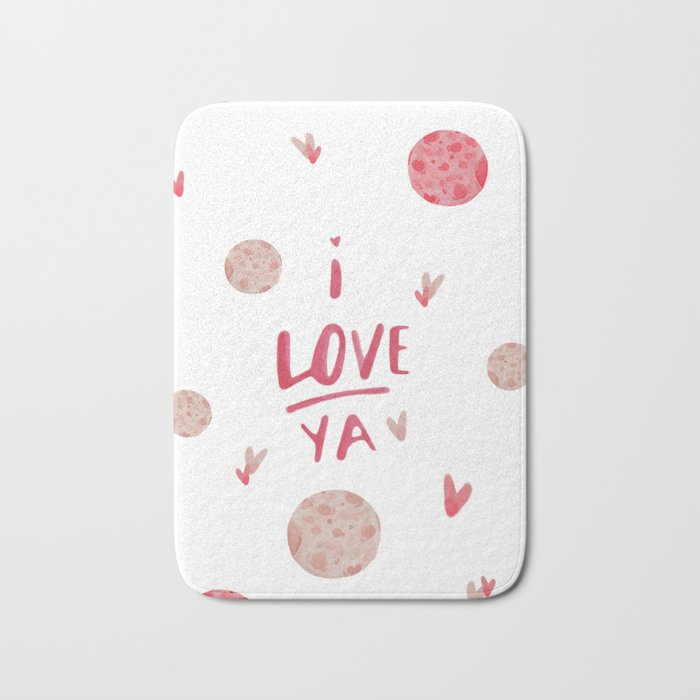 I love you to the moon and back ! Bath Mat
