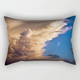 Clouds, Birds, Moon, Venus Rectangular Pillow