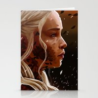 mother of dragons Stationery Cards featuring Mother of dragons by cloudyh