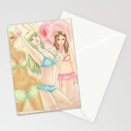 Lingerie Girls Stationery Cards