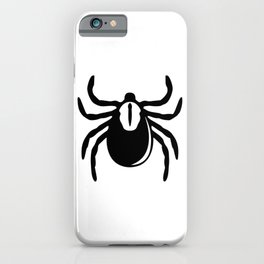TICKS SUCK! Lyme disease or epidemiologist parasitologist black-legged tick art iPhone Case