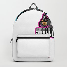 Skull Gunners Esport Mascot Logo Template Backpack