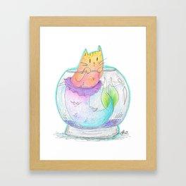 Pet Purrmaid Framed Art Print