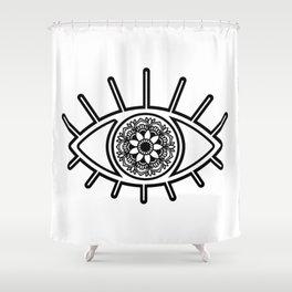 Mandala Evil Eye Shower Curtain