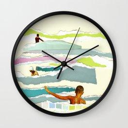 Sun and Surf Wall Clock