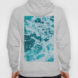 Deep Turquoise Sea - Nature Photography Hoody