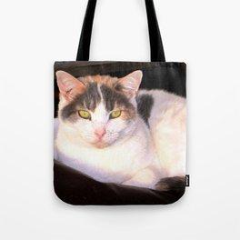Sweet Daisy Cat Tote Bag