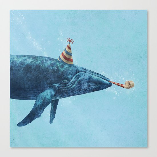 Party Whale  Canvas Print