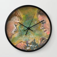 chess Wall Clocks featuring Chess by Spinning Daydreams