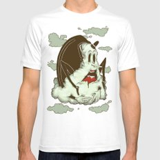Creep Cloud Face Melt MEDIUM Mens Fitted Tee White