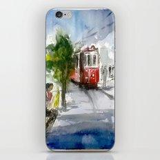 Old Tram in Istanbul iPhone & iPod Skin
