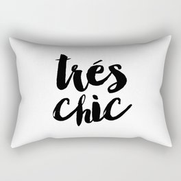 Fashion Poster Fashion Wall Art Girl Room Art Trés Chic Funny Fashion Quote Printable Wall Art Rectangular Pillow