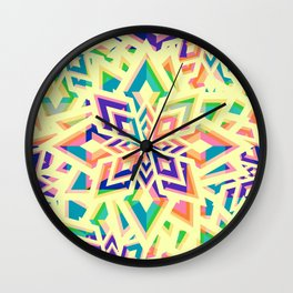 Decorative floral pattern for Christmas Wall Clock