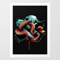 Diabolik Weapons Art Print