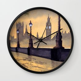 A Misty London - After Yet More Rain Wall Clock