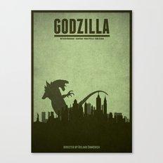 Godzilla - minimal poster Canvas Print