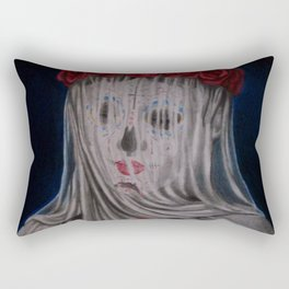 Day Of The Dead Veiled Bride Rectangular Pillow