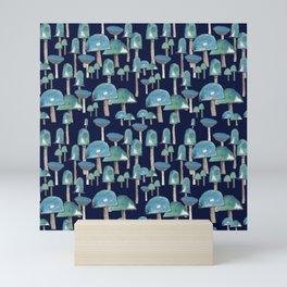 Fields of mushrooms Mini Art Print