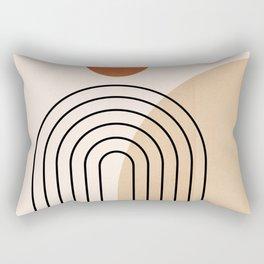 Abstraction_NEW_SUN_DAWN_MOUNTAINS_LINE_POP_ART_008B Rectangular Pillow