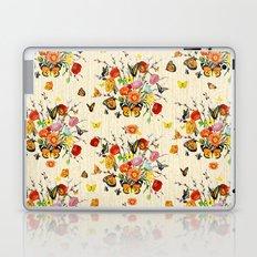 Butterfly Bouquet on Raw Silk Laptop & iPad Skin