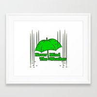 umbrella Framed Art Prints featuring Umbrella by mailboxdisco