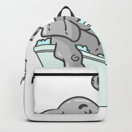 Bathtub elephant Backpack