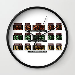 Back to the future Delorean board Wall Clock