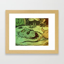 No Deep Breaths Framed Art Print