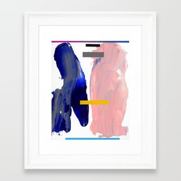 Untitled (Abstract Composition 2017008) Framed Art Print