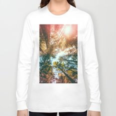 California Redwoods Sun-rays and Sky Long Sleeve T-shirt