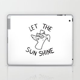 Let the sun shine - Italian greyhound - Black & White Laptop & iPad Skin