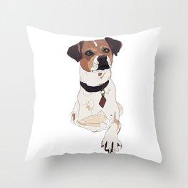 Hello. I'm a dog. Throw Pillow