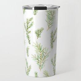 Cristmas watercolor fir and pine twigs Travel Mug
