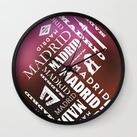 real madrid Wall Clocks featuring Madrid by Rafael CA