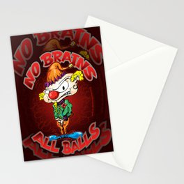 No Brains, All Balls Stationery Cards